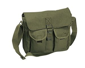 Shoulder Bag - Canvas Military Ammo Style, Olive Drab by Rothco