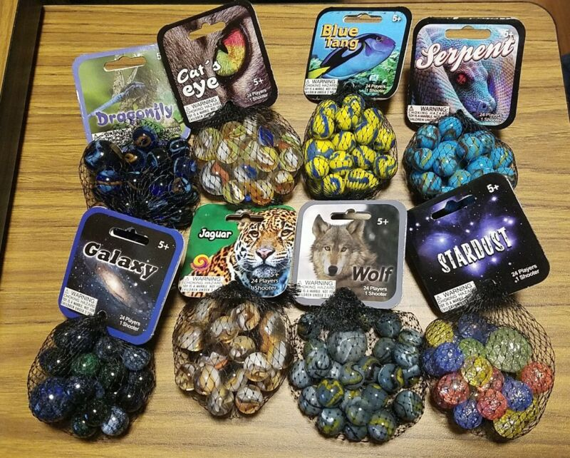 Mega Marbles Lot Of 8 Packs, New with Retired Galaxy!