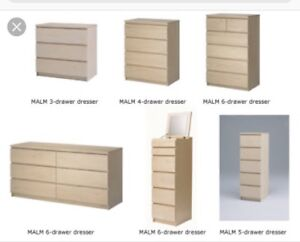Ikea dressers and chest