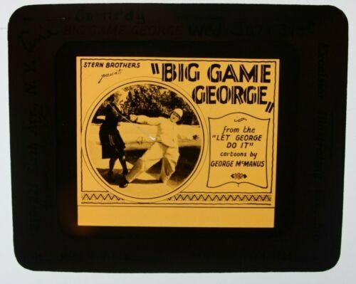 Big Game George 1928 glass slide - Syd Sayor - free shipping