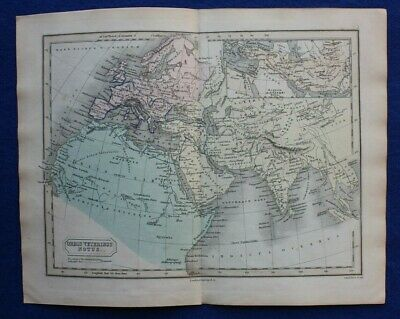 ANCIENT WORLD, 'ORBIS VETERIBUS NOTUS', original antique map, Butler, Hall, 1861