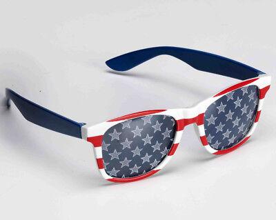 USA Sunglasses Red White Blue United States Of America Stars Stripes Flag Gift (Red Star Sonnenbrille)