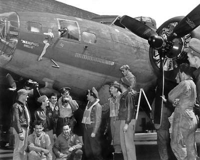 USAAF WW2 B-17 Bomber Memphis Belle 25th Mission Crew #2 8x10 Nose Art Photo for sale  Shipping to Canada