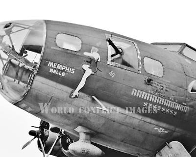 USAAF WW2 B-17 Bomber Memphis Belle #8 8x10 Nose Art Photo 91st BG Bassingbourn, used for sale  Shipping to Canada