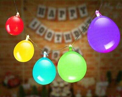 10 Pack GIGALUMI LED Light Up Balloons String Lights Premium Mixed-Colors New