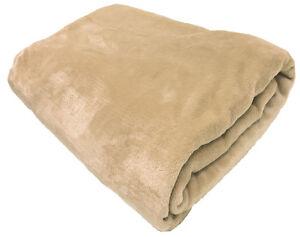 FAUX FUR FLEECE THROW SOFT WARM MINK LARGE SOFA BED BLANKET 10 COLOURS 3 SIZES