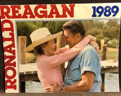 1989 Ronald Reagan Calender 40th President Z32