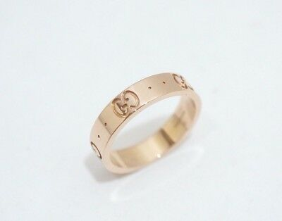 GUCCI 18K Rose Gold 750 ICON Ring Size 4.5