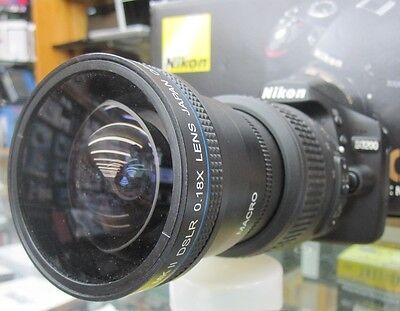 New Super Ultra Wide Angle Macro Fisheye Lens For Nikon AF Digital Camera DSLR