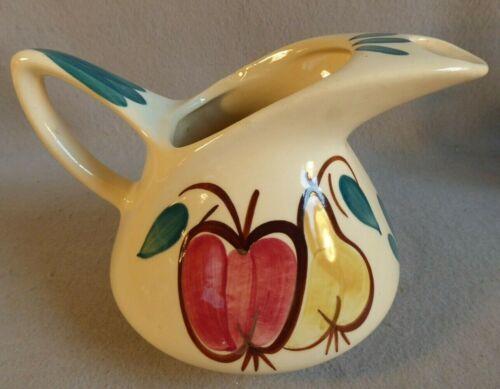 Puritan Slip Ware Pottery Apple & Pear Water Pitcher Vintage Mid Century