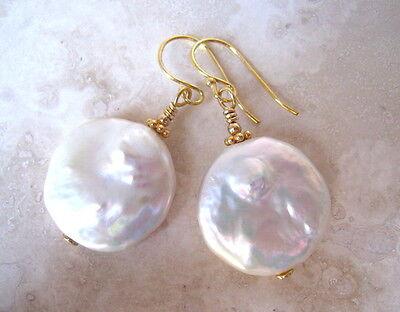 Keshi Keishi Pearl Large Vermiel 19mm Earrings