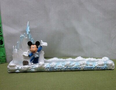 Mickey Mouse Letter Holder Magic Kingdom Office Where Dreams Come True Beat-up