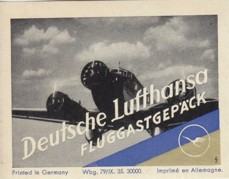 Airline Luggage Label: German Lufthansa (27914)