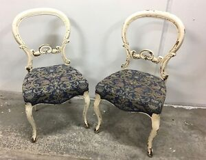 Pair of Vintage Chairs - Blue and Cream Artarmon Willoughby Area Preview