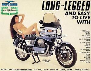 1979 MOTO GUZZI SPADA 1000 MK II SEXY GIRL A3 POSTER AD ADVERT ...