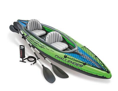 """Intex 68306 Kajak Schlauchboot Kanu """" Challenger K2 """" Komplettset bis 180 kg"""