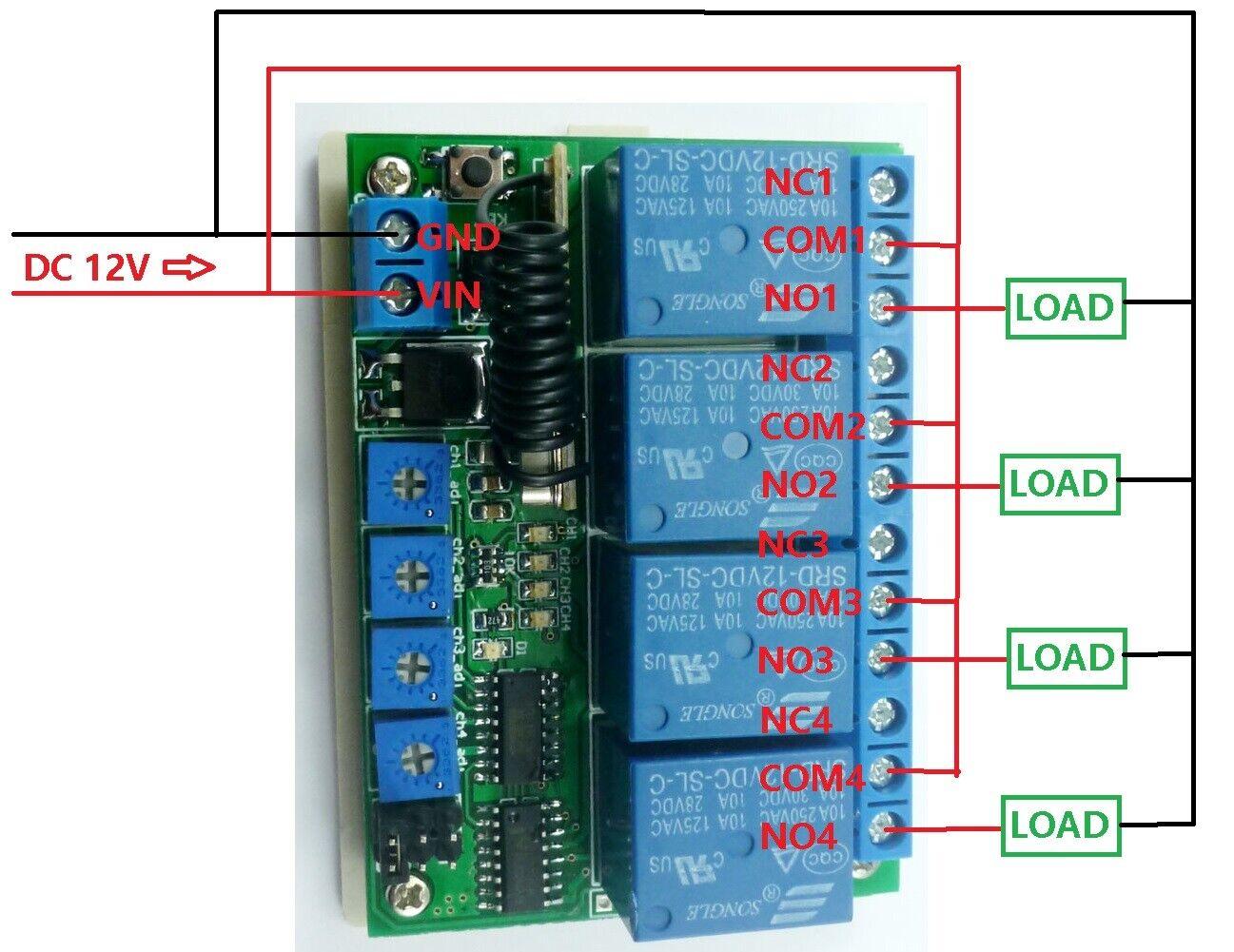 Pt2262 Transmitter Control Delay Relay Receiver Kits