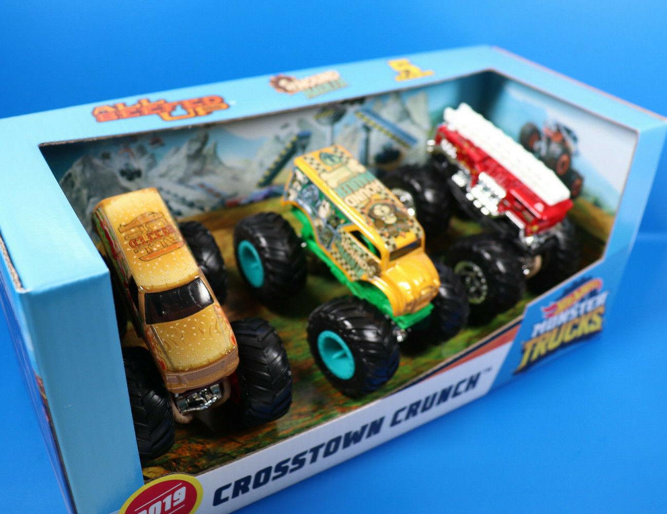 Mattel Hot Wheels Monster Trucks 3er-Pack Cars 100%  / VERPACKUNG DEFEKT