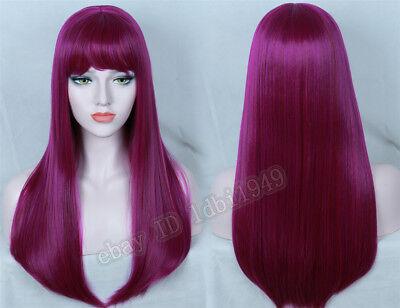 Purple Wig Halloween Costume (Descendants 2 Mal Wig Purple Mixed Cosplay Wig Halloween Costume)