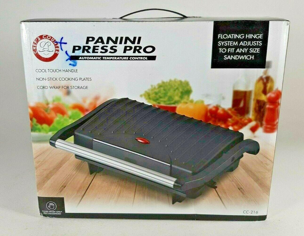 Chef's Counter Panini Press Pro - New in Box