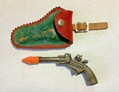 Vintage Miniature COWBOY Cap Gun & Holster USA Cast Iron