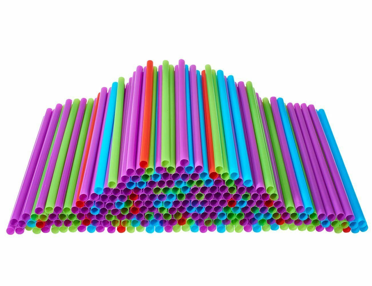 wholesale Drinking Straws, 250 Count BPA Free Multi Colored