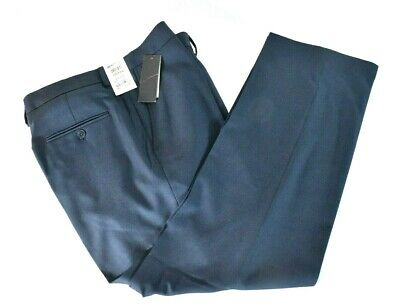 Kenneth Cole Reaction Mens Blue Dress Pants New 32 33 36 Stretch Modern Fit Blue Dress Pants