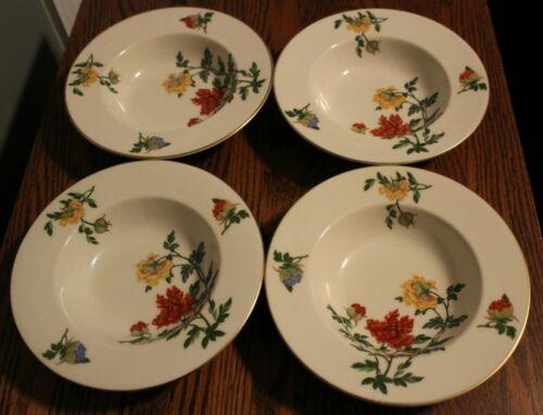 Castleton China Ma Lin Rim Soup Bowls - 4 Bowls - Made in the USA