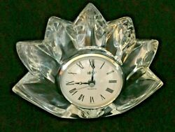 MIKASA Glass Clock - Crystal Quartz - Germany (Fleurisse?)