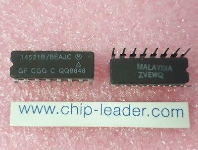 3x Motorola 14521bbeajc Ic Prescaler Cmos Cdip-16