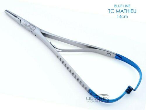 "TC Mathieu Needle Holder 5.5"" Plier Dental Surgical Orthodontic Instrument Blue"