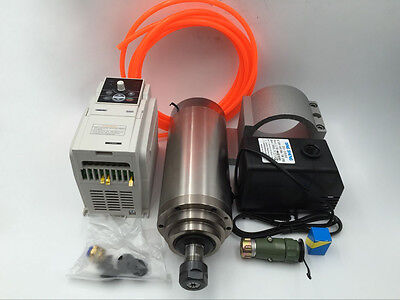 Er20 Spindle Motor 4.5kw Water Cooled 380v 24000rpm5.5kw Vfd Inverter Kit