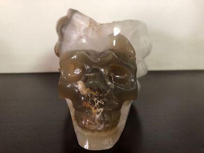 4.5 IN Genuine Amethyst Crystal Carved Skull Realistic Crystal Healing #907