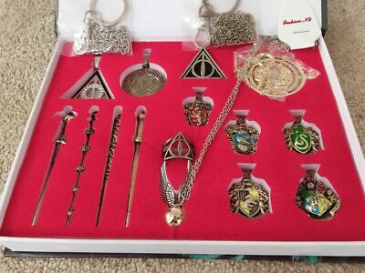 New 15 PCS Harry Potter wand Magical wands ring necklace decorate Halloween Gift