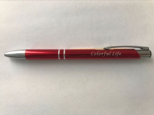 50 PCS Personalized Promotion Pens, Black Ink, Marking Giveway