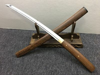 Rosewood Sharp Japanese Sword Shirasaya Wakizashi + Free Sword Bag