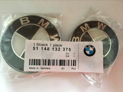 82mm 74mm Emblem Bonnet Boot Badge Set Hood Trunk E30,E36,E46,3,5,7,X Series