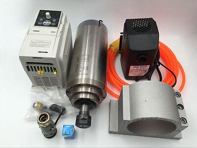 3kw Er20 Spindle Motor Water-cooled 380v 24000rpm4kw Vfd Inverterbracketpump