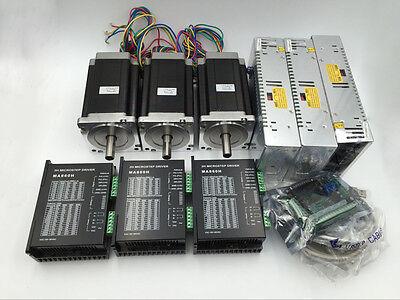 12nm Stepper Motor Kit Xyz 3axis Nema34 L150mm Cnc Router Motion Control Set