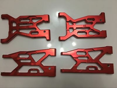 CNC alloy front + rear suspension arm support for LOSI 5IVE-T red color 4pcs