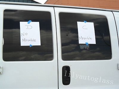 Fit 96-16 Chevy Express Passenger Side Hinged Door Window Glass Movable (C)