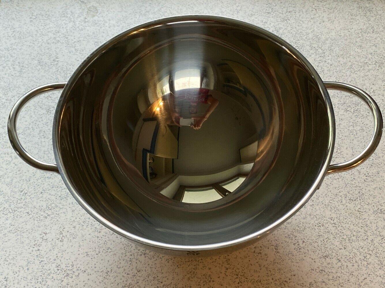 WMF Schüssel, Salatschüssel, Edelstahl auf Kunststoff-Fuß