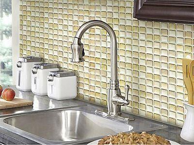 Home Bathroom Kitchen Wall Decor 3D Stickers Wallpaper Tile Beige Backsplash Art