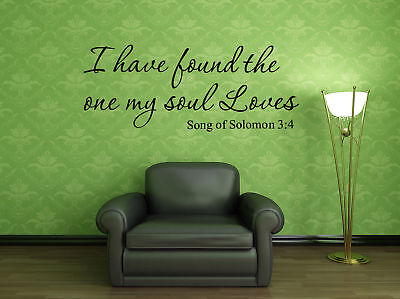 Song Of Solomon 3 (Song of solomon 3:4 Bible Verse Vinyl Wall Stickers Decals Scripture Quote)