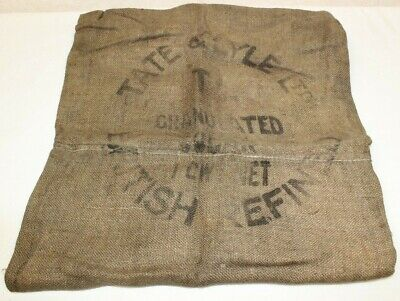 OLD HESSIAN SACK ADVERTISING TATE & LYLE Ltd - VINTAGE, RETRO & COLLECTABLE