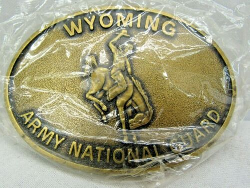 Wyoming Army National Guard Belt Buckle