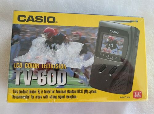 "Casio TV-600 Portable LCD Color Television TV 2.2"" Screen -"