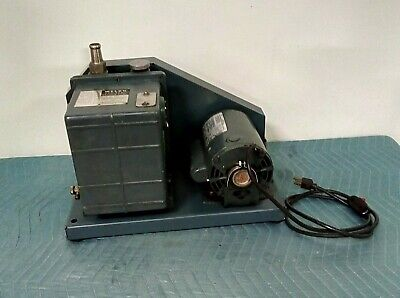 Welch Duo-seal Duoseal 1380 Vacuum Pump General Electric 12hp 1725rpm 1 Phase