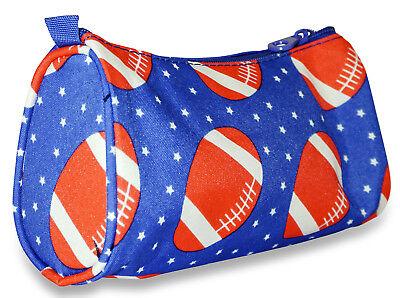 Football Sport Women Makeup Bag Zipper Cosmetic Purse Lady Small Organizer Pouch](Football Makeup)