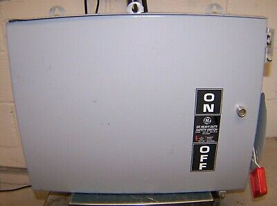 New Ge 30 Amp Non Fused Double Throw Safety Switch 600 Vac 3 Phase Thn6661cl